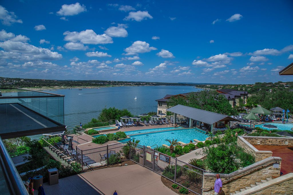 Poolside at The Lakeway Resort and Spa.