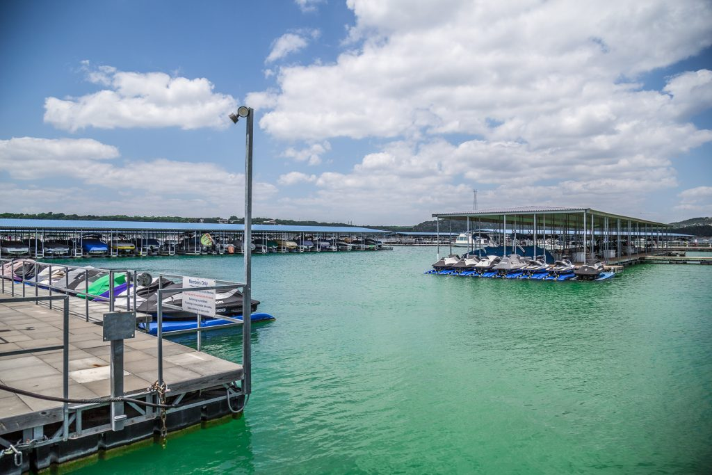 West Beach Marina on Lake Travis