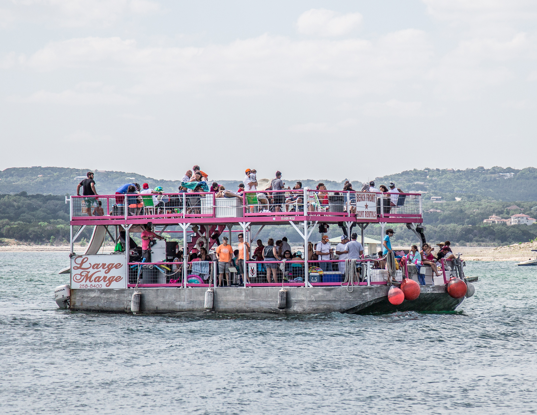 Beach Front Lake Travis Party Boat Rentals