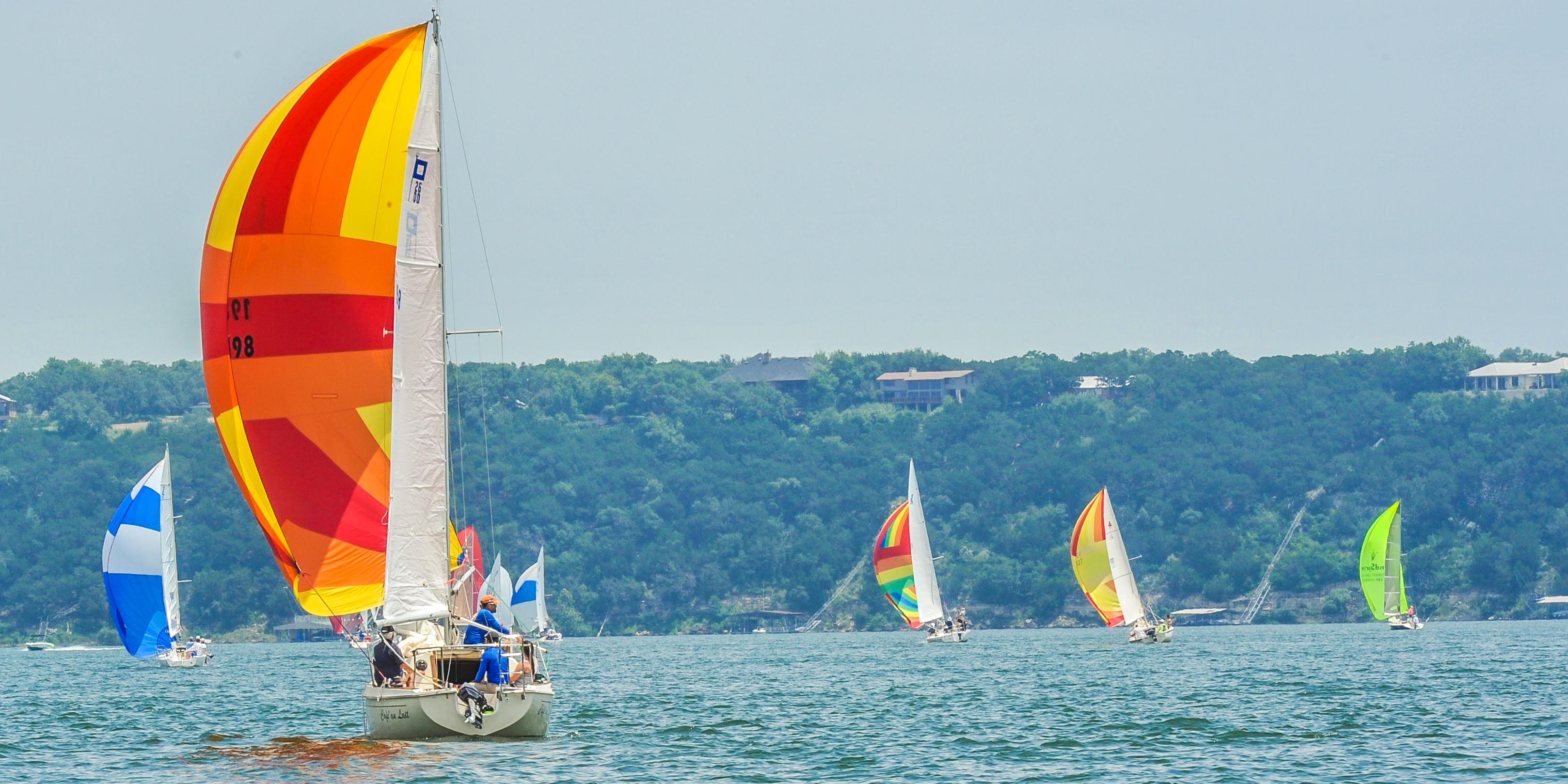 sailboat on Lake Travis