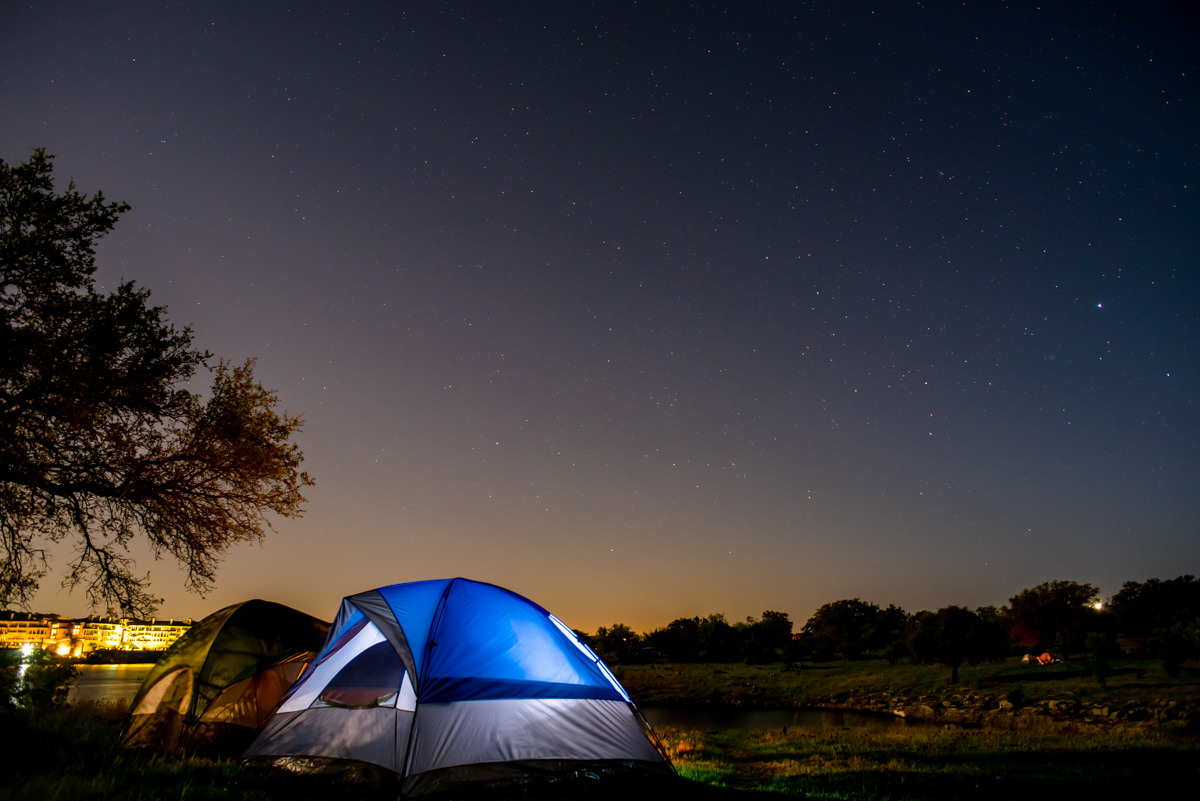 Under the stars at Pace Bend Park on Lake Travis. Davee Le  photo.
