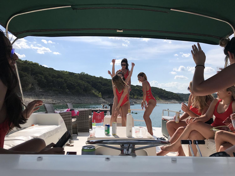 "Lake Travis Yacht Rental's  Gibson 370 Sport Cruiser named ""Casino Royale"