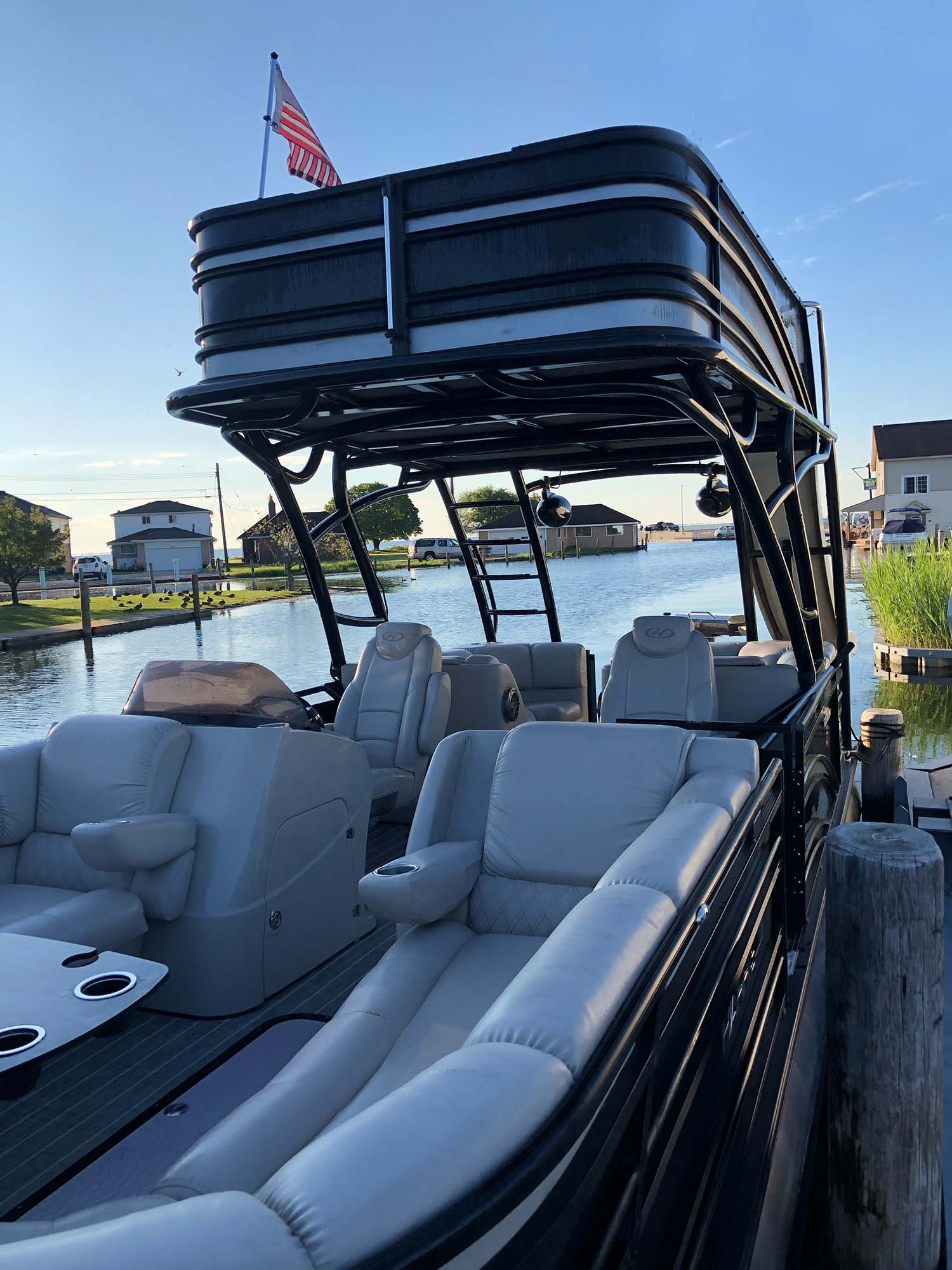 Lone Star Party Boats - Black Stallion double decker pontoon.