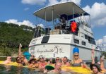 Stache Party Boats on Lake Travis