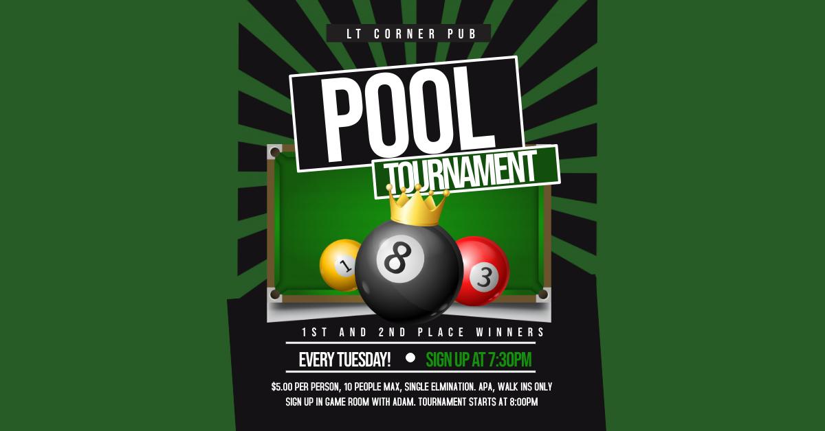 Tuesday Pool Tournament - Lake Travis Corner Pub